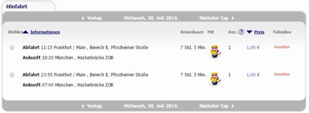 Frankfurt nach München