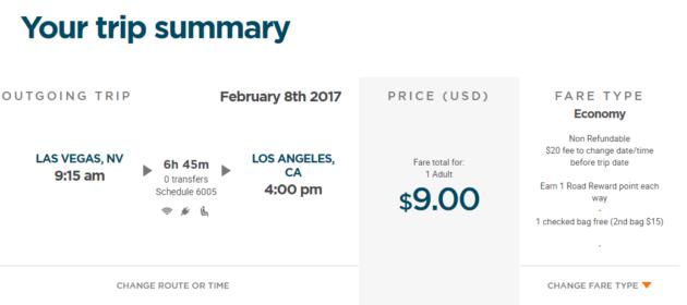 Las Vegas nach Los Angeles