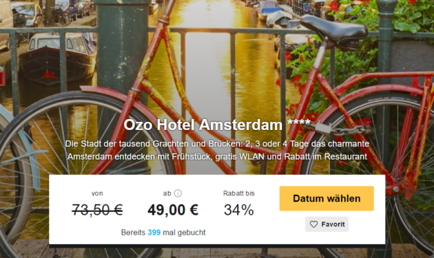 2 Tage Ozo Hotel Amsterdam