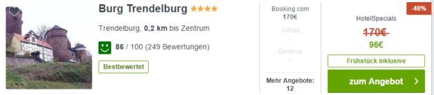 3 Tage Ritterburg Trendelburg Schnäppchen
