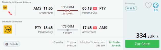 Amsterdam nach Panama