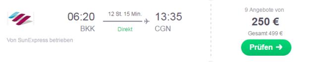 Backpacking Flug Bangkok Köln