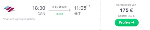 Backpacking Flug Köln Phuket