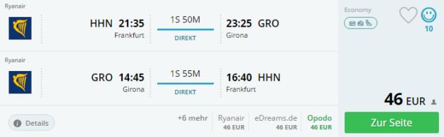 Frankfurt nach Girona