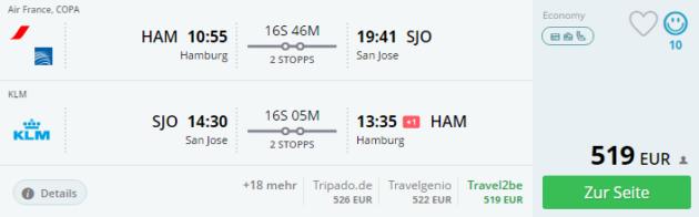 Hamburg nach San Jose
