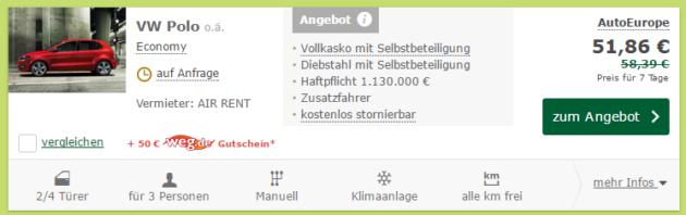 VW Polo Schnaeppchen