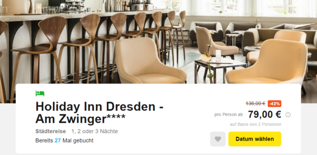 3 Tage zentral in Dresden