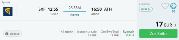 Athen Flug Angebot