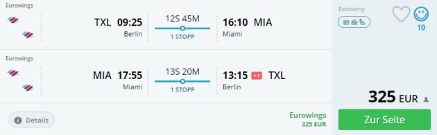 Berlin nach Miami