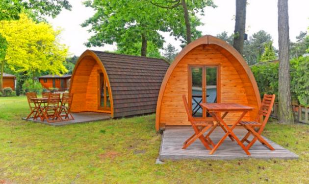 Glamping Holland im Holzhütte Pod