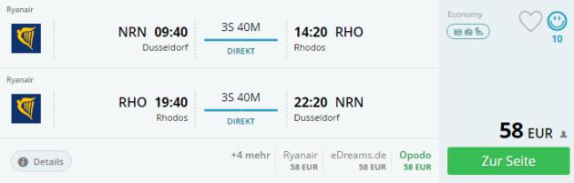 Duesseldorf nach Rhodos