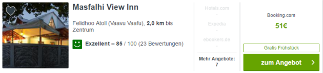Malediven Hotel Angebot