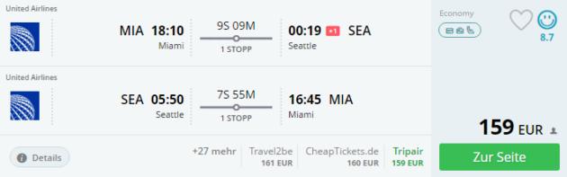 Miami nach Seattle