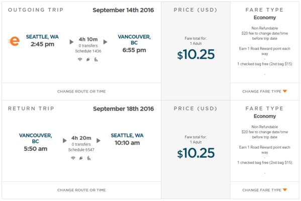 Seattle nach Vancouver