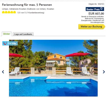 1 Woche Kroatien Ferienhaus