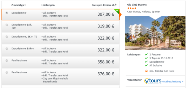 5 Tage Mallorca Deal