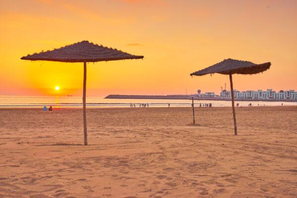 Strand Agadir Sonneuntergang