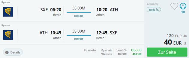 Berlin nach Athen