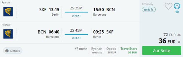 Berlin nach Barcelona