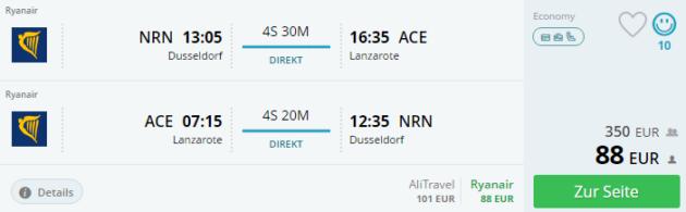 Düsseldorf nach Lanzarote