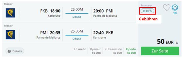 Gebühren Airlines Momondo