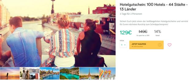 Gutschein 100 Hotels