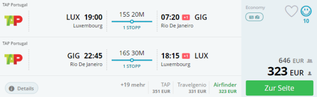 Frankfurt nach Rio