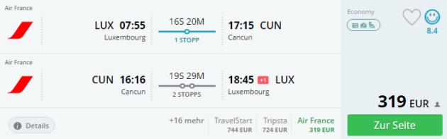 Luembourg nach Cancun