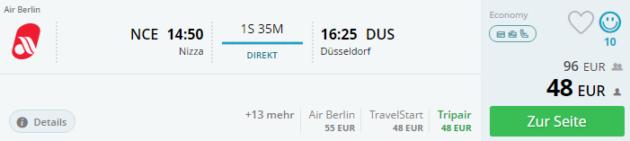 Nizza nach Düsseldorf
