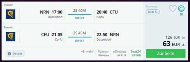 14 Tage auf Korfu Flug