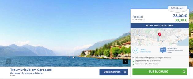 Gardasee Urlaubsschnäppchen