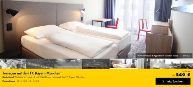 Heimspiel Fc Bayern Munchen 3 Tage In Munchen Mit Hotel Inkl