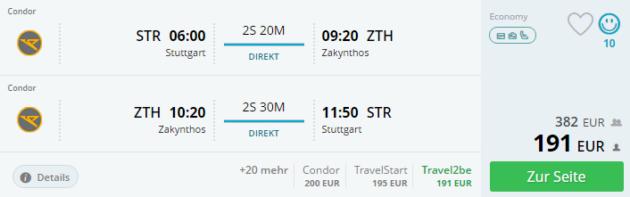 Zakynthos Flug Angebot