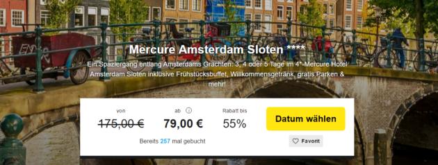 Amsterdam Städtereise Schnäppchen