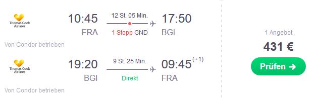 Flug Frankfurt Bridgetown