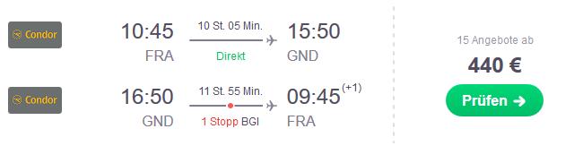 Flug Frankfurt Grenada