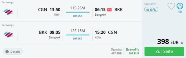 Köln nach Bangkok