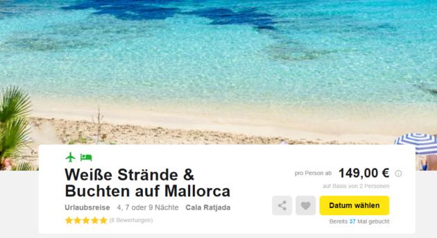 5 Tage Mallorca Cala Ratjada