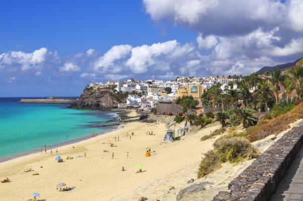 Morro Jable Stadt auf Fuerteventura