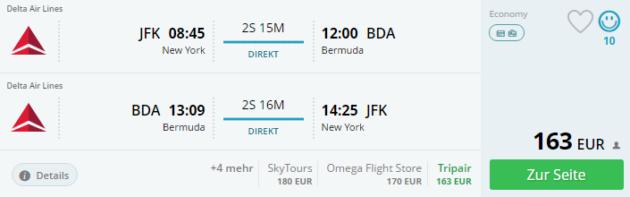 New York nach Bermuda