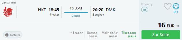 Phuket nach Bangkok
