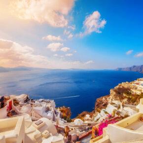 Griechenland: 6 Tage Santorini mit TOP 3* Hotel & Flug nur 198€