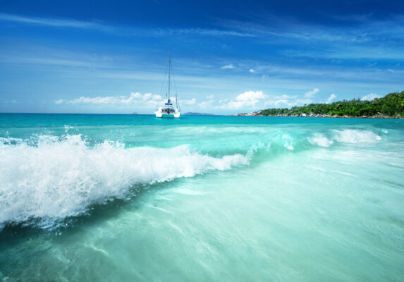 Praslin Island Anse Lazio Beach