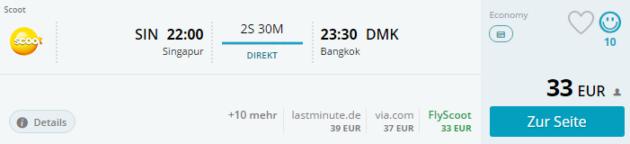 Singapur nach Bangkok
