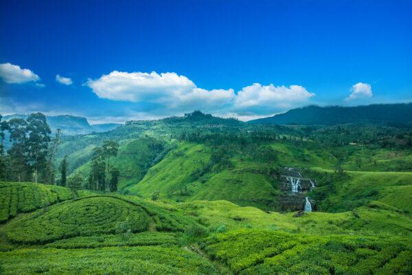 St. Clairs Wasserfälle auf Sri Lanka