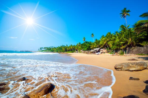 Sanstrand auf Sri Lanka