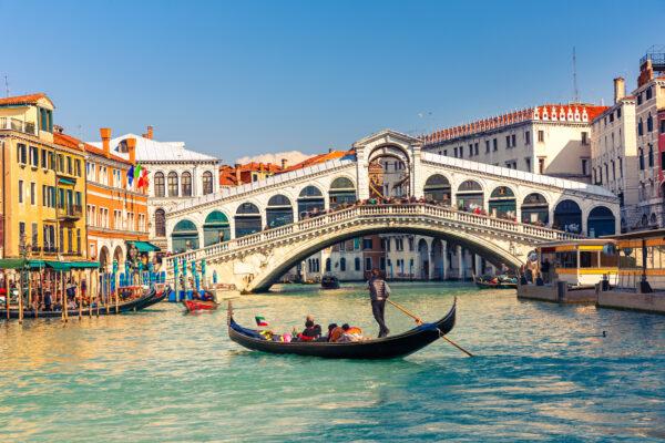 Venedig Gondola Rialtobruecke