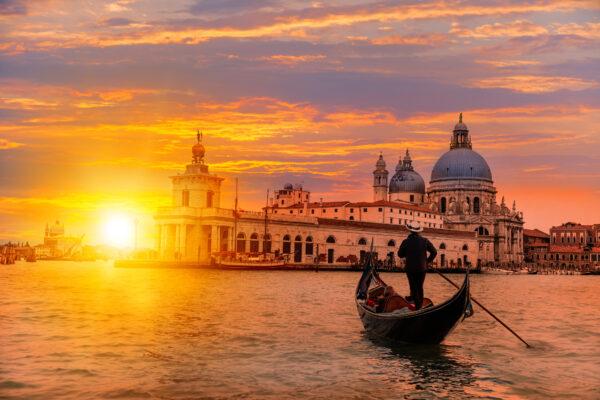 Venedig Gondola Sonnenuntergang