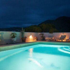 Mojacar villa_pool_bei_nacht