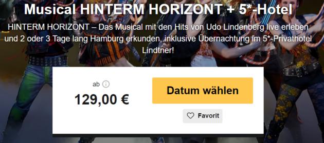 2 Tage Hamburg mit Musical Hinterm Horizont